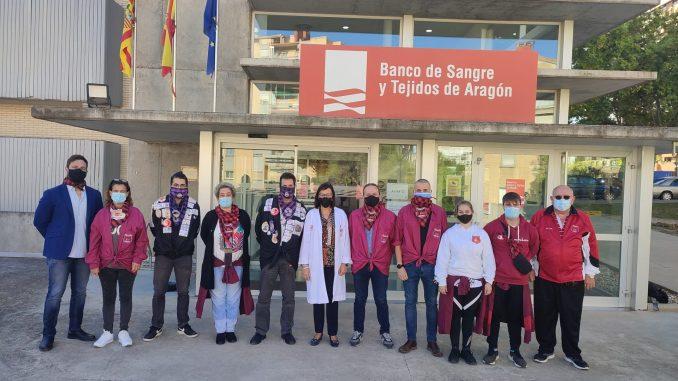 Los peñistas donan sangre en el Banco de Sangre y Tejidos por el Pilar21